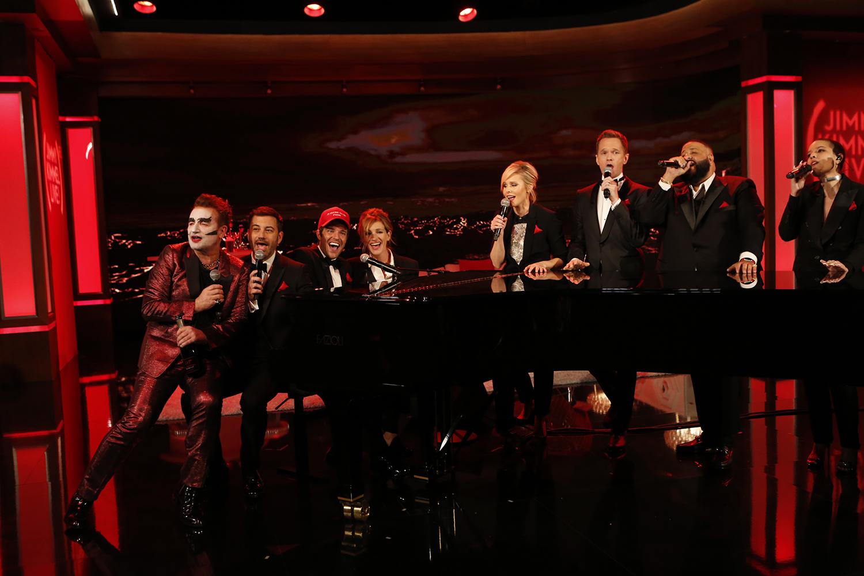 Jimmy Kimmel Live Red Episode [Photo via FYI]