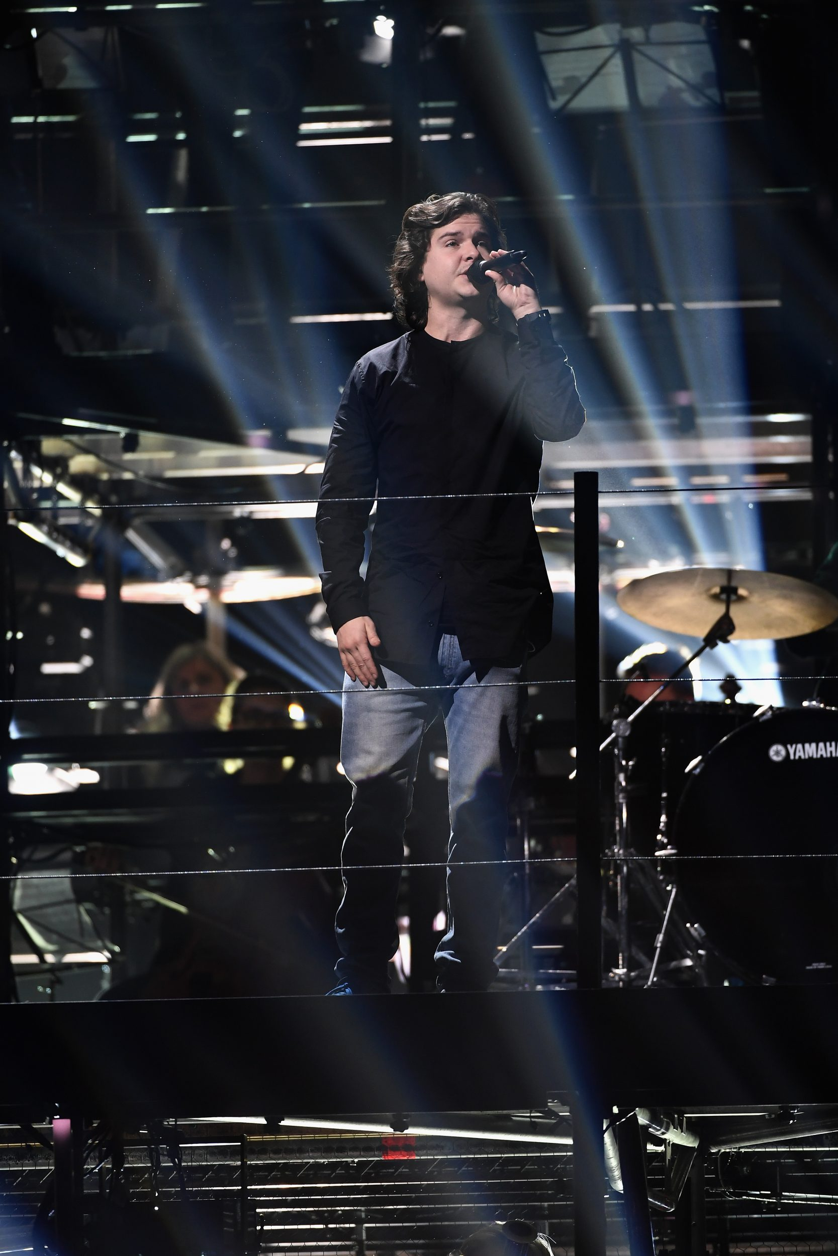 ROTTERDAM, NETHERLANDS - NOVEMBER 05:  Lead singer Lukas Forchhammer from Lukas Graham during open rehearsal ahead of the MTV Europe Music Awards 2016 on November 5, 2016 in Rotterdam, Netherlands. The MTV Europe Music Awards 2016 is held on November 6, 2016.  (Photo by Ian Gavan/MTV 2016/Getty Images for MTV) *** Local Caption *** Lukas Forchhammer