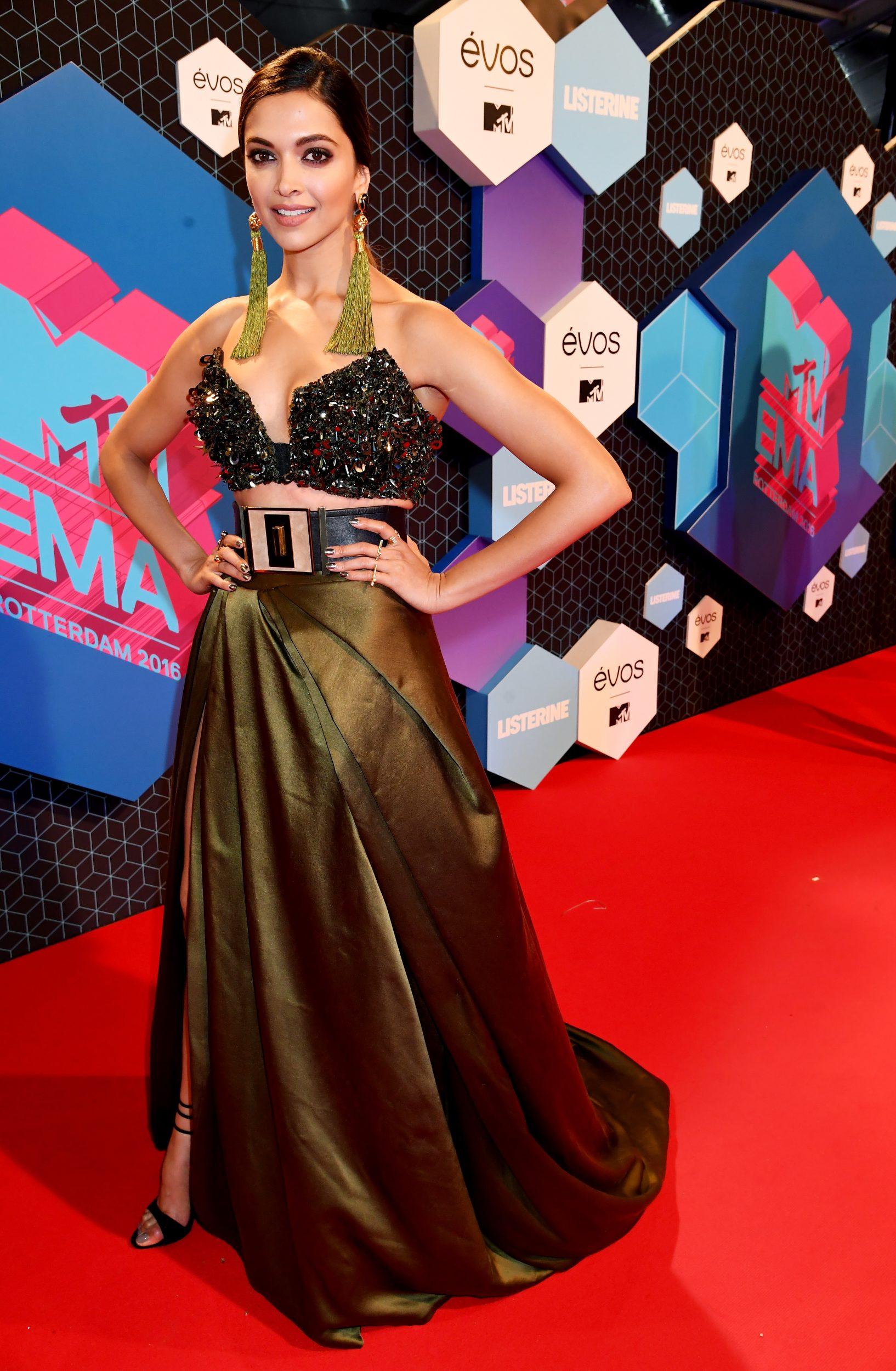 ROTTERDAM, NETHERLANDS - NOVEMBER 06: Actress Deepika Padukone attends the MTV Europe Music Awards 2016 on November 6, 2016 in Rotterdam, Netherlands. (Photo by Jeff Kravitz/FilmMagic) *** Local Caption *** Deepika Padukone