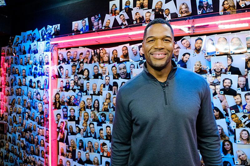 "Michael Strahan backstage during ""The Late Late Show with James Corden,"" Friday, November 11, 2016 (12:35 PM-1:37 AM ET/PT) On The CBS Television Network.  Photo: Terence Patrick/CBS ©2016 CBS Broadcasting, Inc. All Rights Reserved"