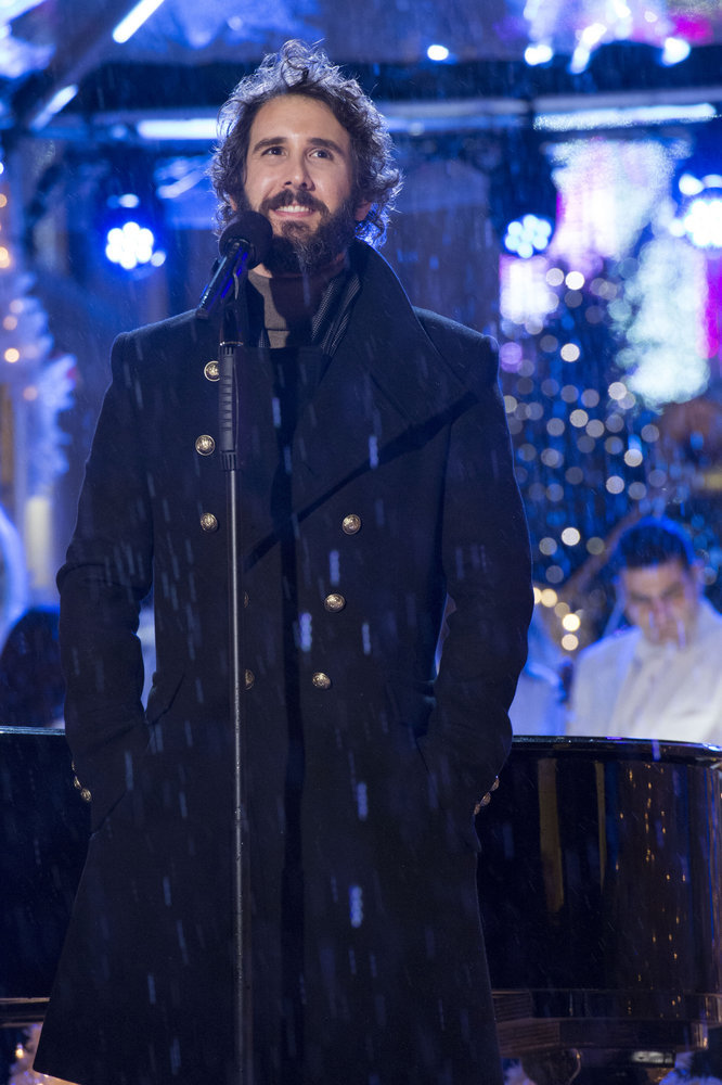 CHRISTMAS IN ROCKEFELLER CENTER 2016-- Pictured: Josh Groban rehearses for the 2016 Christmas in Rockefeller Center -- (Photo by: Virginia Sherwood/NBC)
