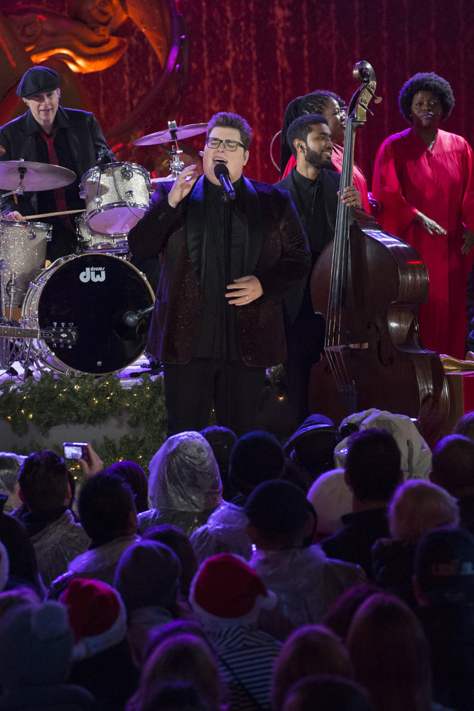 CHRISTMAS IN ROCKEFELLER CENTER -- Pictured: Jordan Smith rehearses for the 2016 Christmas in Rockefeller Center -- (Photo by: Virginia Sherwood/NBC)