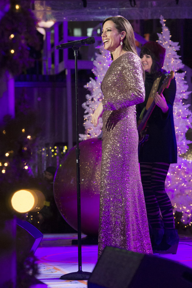 CHRISTMAS IN ROCKEFELLER CENTER 2016-- Pictured: Sarah McLachlan during the 2016 Christmas in Rockefeller Center -- (Photo by: Virginia Sherwood/NBC)