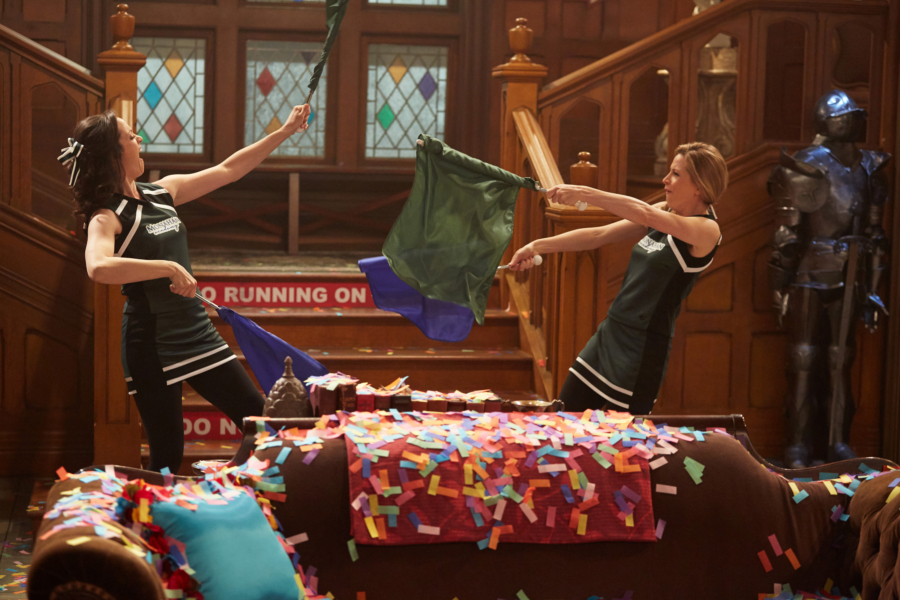 "LIV AND MADDIE - ""Sing It Louder!!-A-Rooney"" - When Liv's new show is in danger of being cancelled because they can't find the right cast, Liv helps by searching for the perfect star. Parker concocts a plan to take Joey, and his new Falcon persona, down by having Joey test drive a dangerous invention. This episode of ""Liv and Maddie: Cali Style"" airs Friday, November 18 (8:00 - 8:30 P.M. EST) on Disney Channel. (Disney Channel/John Fleenor) KALI ROCHA, JOLIE JENKINS"