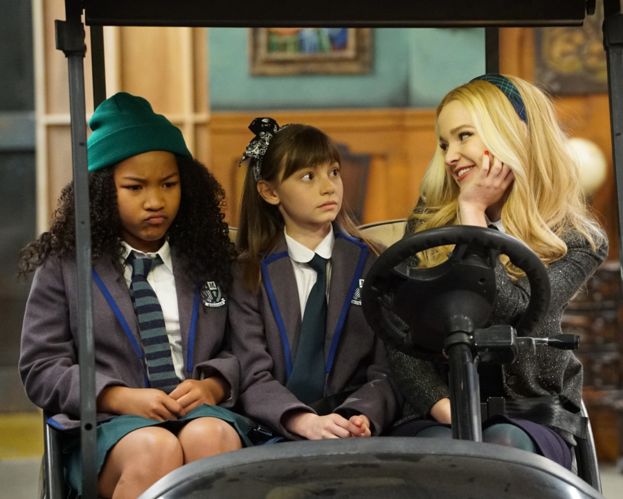 """LIV AND MADDIE - """"Slumber Party-A-Rooney"""" - Liv throws a sleepover to help Ruby and her co-star Priya become better friends. Meanwhile, Joey meets a new nemesis and Parker reveals a big surprise to Maddie. This episode of """"Liv and Maddie: Cali Style"""" airs Friday, November 25 (9:00 - 9:30 P.M. EST) on Disney Channel. (Disney Channel/Ron Tom) LAYA DELEON HAYES, LAUREN LINDSEY DONZIS, DOVE CAMERON"""