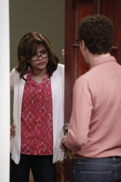 """K.C. UNDERCOVER - """"Undercover Mother"""" - When Scholastic Achievement Quarterly tries to interview K.C. for being the smartest student in her school, she disguises herself as her mom so she can be featured and hide her identity as a spy. This episode of """"K.C. Undercover"""" airs Sunday, November 06 (8:00 - 8:30 P.M. EST) on Disney Channel. (Disney Channel/Tyler Golden) ZENDAYA"""