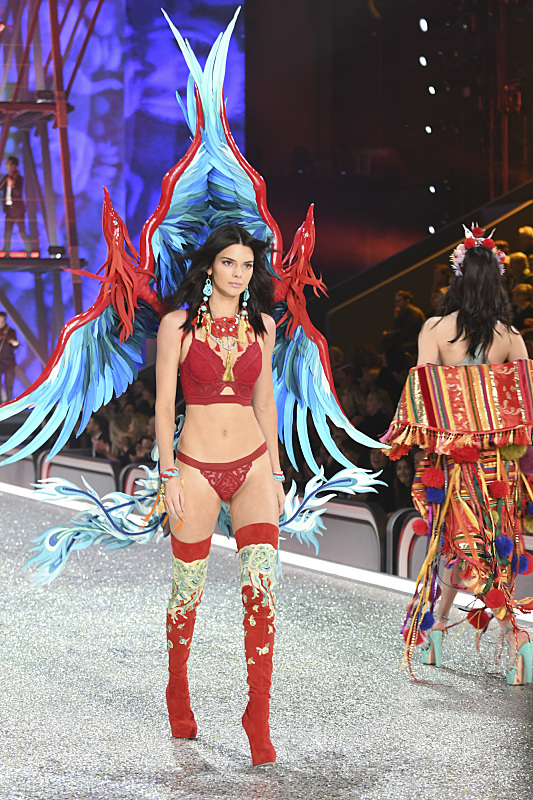 """For the first time, the Victoria's Secret Angels are filmed in Paris for THE VICTORIA'S SECRET FASHION SHOW, broadcast Monday, Dec. 5 (10:00-11:00 PM, ET/PT) on the CBS Television Network. The world's most celebrated fashion show will be seen in more than 190 countries. Merging fashion, fantasy and entertainment, the lingerie runway show will include pink carpet interviews, model profiles, a behind-the-scenes look at the making of the show in the City of Lights and musical performances by Lady Gaga, Bruno Mars, and The Weeknd."" Pictured: Kendall Jenner Photo: Michele Crowe/CBS ©2016 CBS Broadcasting, Inc. All Rights Reserved"