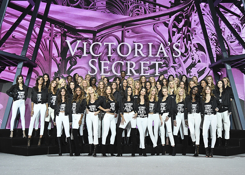 """For the first time, the Victoria's Secret Angels are filmed in Paris for THE VICTORIA'S SECRET FASHION SHOW, broadcast Monday, Dec. 5 (10:00-11:00 PM, ET/PT) on the CBS Television Network.  The world's most celebrated fashion show will be seen in more than 190 countries. Merging fashion, fantasy and entertainment, the lingerie runway show will include pink carpet interviews, model profiles, a behind-the-scenes look at the making of the show in the City of Lights and musical performances by Lady Gaga, Bruno Mars, and The Weeknd."" Pictured: Angels: Adriana Lima, Alessandra Ambrosio, Lily Aldridge, Elsa Hosk, Martha Hunt, Lais Ribeiro, Sara Sampaio, Stella Maxwell, Romee Strijd, Taylor Hill, Jasmine Tookes, Josephine Skriver, with models: Alanna Arrington, Kendall Jenner, Gigi Hadid, Bella Hadid, Bridget Malcolm , Brooke Perry, Cindy Bruna, Devon Windsor, Dilone, Elsa Hosk, Flavia Lucini, Georgia Fowler, Grace Elizabeth, Camille Rowe, Herieth Paul, Jourdana Phillips, Kate Grigorieva, Kate Lindgard, Kelly Gale, Lais Oliveira, Lameka Fox, Leomie Anderson, Liu Wen, Luma Grothe, Maggie Laine, Megan Williams, Ming Xi, Rachel Hilbert, Sanne Vloet, Sui He, Xiao Wen, Zuri Tibby, Barbara Fialho, Joan Smalls, Lily Donaldson, Maria Borges, Iza Goulart, Daniela Braga, Valery Kaufman and Megan Williams.  Photo: Michele Crowe/CBS ©2016 CBS Broadcasting, Inc. All Rights Reserved"