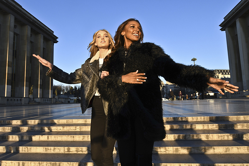 """For the first time, the Victoria's Secret Angels are filmed in Paris for THE VICTORIA'S SECRET FASHION SHOW, broadcast Monday, Dec. 5 (10:00-11:00 PM, ET/PT) on the CBS Television Network.  The world's most celebrated fashion show will be seen in more than 190 countries. Merging fashion, fantasy and entertainment, the lingerie runway show will include pink carpet interviews, model profiles, a behind-the-scenes look at the making of the show in the City of Lights and musical performances by Lady Gaga, Bruno Mars, and The Weeknd."" Pictured left to right: Elsa Hosk, Jasmine Tookes. Photo: Michele Crowe/CBS ©2016 CBS Broadcasting, Inc. All Rights Reserved"