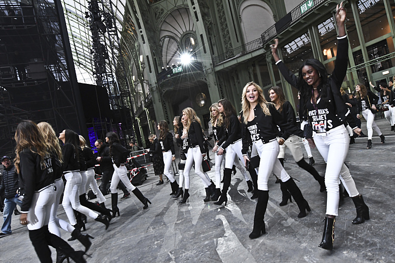 """For the first time, the Victoria's Secret Angels are filmed in Paris for THE VICTORIA'S SECRET FASHION SHOW, broadcast Monday, Dec. 5 (10:00-11:00 PM, ET/PT) on the CBS Television Network.  The world's most celebrated fashion show will be seen in more than 190 countries. Merging fashion, fantasy and entertainment, the lingerie runway show will include pink carpet interviews, model profiles, a behind-the-scenes look at the making of the show in the City of Lights and musical performances by Lady Gaga, Bruno Mars, and The Weeknd."" Pictured left to right: Rachel Hilbert and Zuri Tibby. Photo: Michele Crowe/CBS ©2016 CBS Broadcasting, Inc. All Rights Reserved"