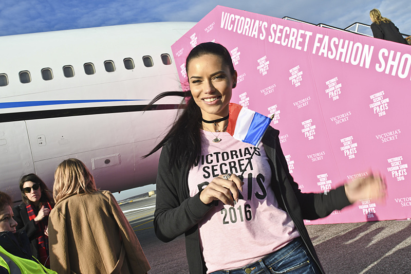 """For the first time, the Victoria's Secret Angels are filmed in Paris for THE VICTORIA'S SECRET FASHION SHOW, broadcast Monday, Dec. 5 (10:00-11:00 PM, ET/PT) on the CBS Television Network.  The world's most celebrated fashion show will be seen in more than 190 countries. Merging fashion, fantasy and entertainment, the lingerie runway show will include pink carpet interviews, model profiles, a behind-the-scenes look at the making of the show in the City of Lights and musical performances by Lady Gaga, Bruno Mars, and The Weeknd."" Pictured: Adriana Lima. Photo: Michele Crowe/CBS ©2016 CBS Broadcasting, Inc. All Rights Reserved"