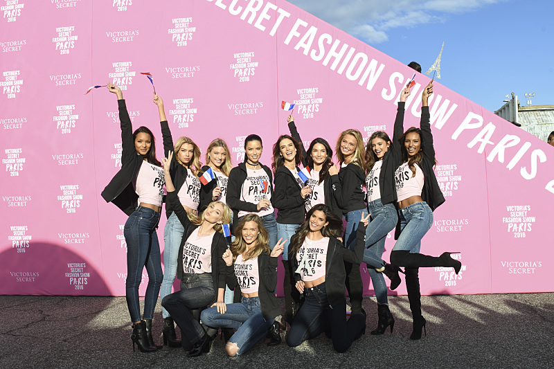 """For the first time, the Victoria's Secret Angels are filmed in Paris for THE VICTORIA'S SECRET FASHION SHOW, broadcast Monday, Dec. 5 (10:00-11:00 PM, ET/PT) on the CBS Television Network.  The world's most celebrated fashion show will be seen in more than 190 countries. Merging fashion, fantasy and entertainment, the lingerie runway show will include pink carpet interviews, model profiles, a behind-the-scenes look at the making of the show in the City of Lights and musical performances by Lady Gaga, Bruno Mars, and The Weeknd."" Pictured left to right, top row first: Lais Ribeiro, Stella Maxwell, Martha Hunt, Adriana Lima, Alessandra Ambrosio, Lily Aldridge, Romee Strijd, Taylor Hill, Jasmine Tookes, Elsa Hosk, Josephine Skriver and Sara Sampaio. Photo: Michele Crowe/CBS ©2016 CBS Broadcasting, Inc. All Rights Reserved"