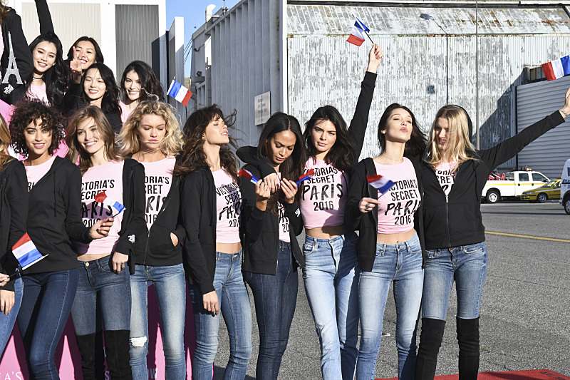 """For the first time, the Victoria's Secret Angels are filmed in Paris for THE VICTORIA'S SECRET FASHION SHOW, broadcast Monday, Dec. 5 (10:00-11:00 PM, ET/PT) on the CBS Television Network.  The world's most celebrated fashion show will be seen in more than 190 countries. Merging fashion, fantasy and entertainment, the lingerie runway show will include pink carpet interviews, model profiles, a behind-the-scenes look at the making of the show in the City of Lights and musical performances by Lady Gaga, Bruno Mars, and The Weeknd."" Pictured: Kendall Jenner. Photo: Michele Crowe/CBS ©2016 CBS Broadcasting, Inc. All Rights Reserved"