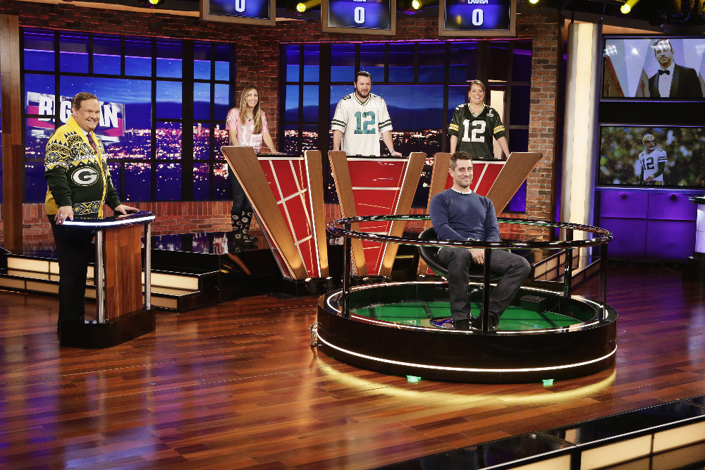 BIG FAN - Coverage. (ABC/Nicole Wilder) ANDY RICHTER, AARON RODGERS