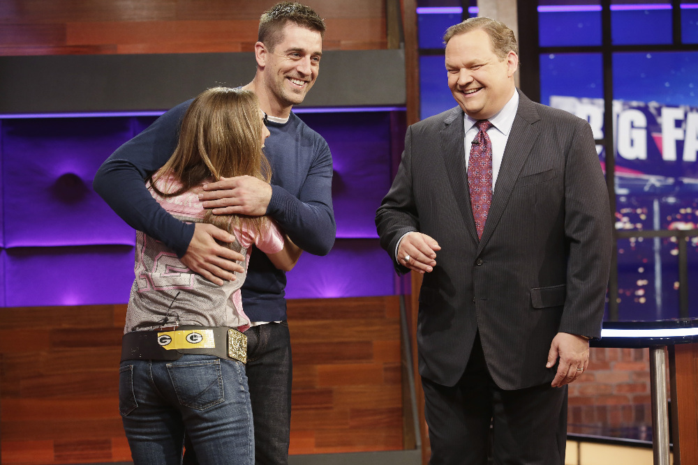 BIG FAN - Coverage. (ABC/Nicole Wilder) AARON RODGERS, ANDY RICHTER