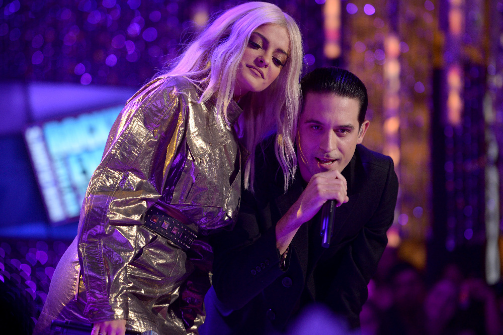 DICK CLARK'S NEW YEAR'S ROCKIN' EVE WITH RYAN SEACREST 2017 - America's biggest celebration of the year takes place on SATURDAY, DECEMBER 31, beginning at 8 p.m. EST, on the ABC Television Network. (ABC/Matt Brown) BEBE REXHA, G-EAZY