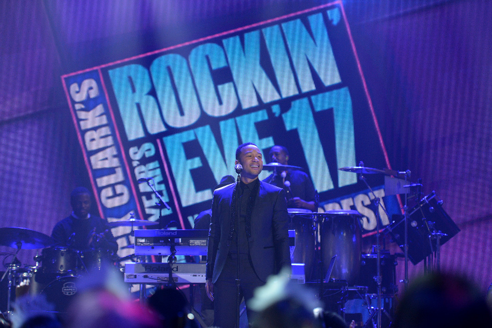 DICK CLARK'S NEW YEAR'S ROCKIN' EVE WITH RYAN SEACREST 2017 - America's biggest celebration of the year takes place on SATURDAY, DECEMBER 31, beginning at 8 p.m. EST, on the ABC Television Network. (ABC/Matt Brown) JOHN LEGEND