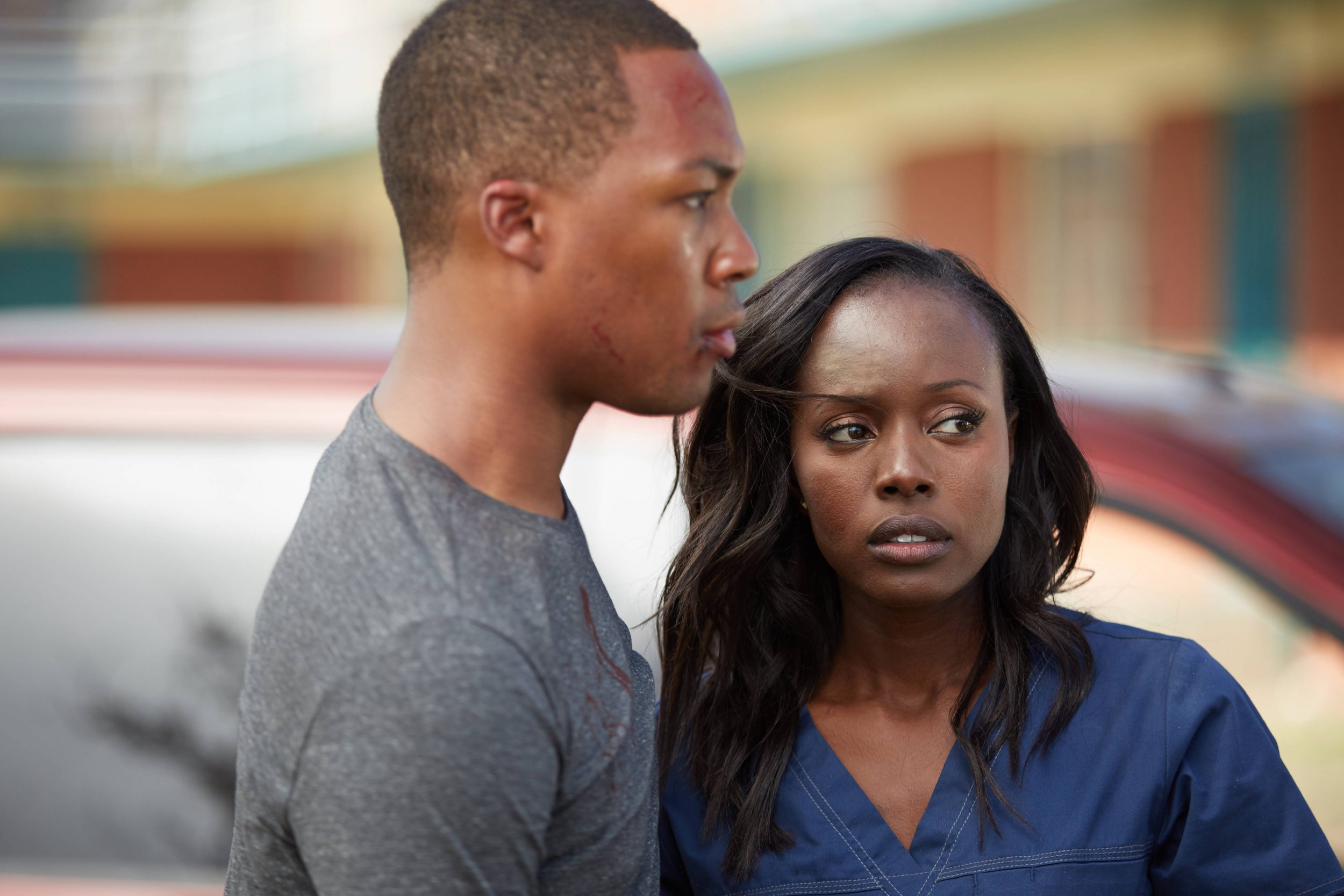 """24: LEGACY: L-R: Corey Hawkins and Anna Diop. 24: LEGACY begins its two-night premiere event following """"SUPERBOWL LI"""" on Sunday, Feb. 5, and will continue Monday, Feb. 6 on FOX. ©2016 Fox Broadcasting Co. Cr: John P Fleenor/FOX"""