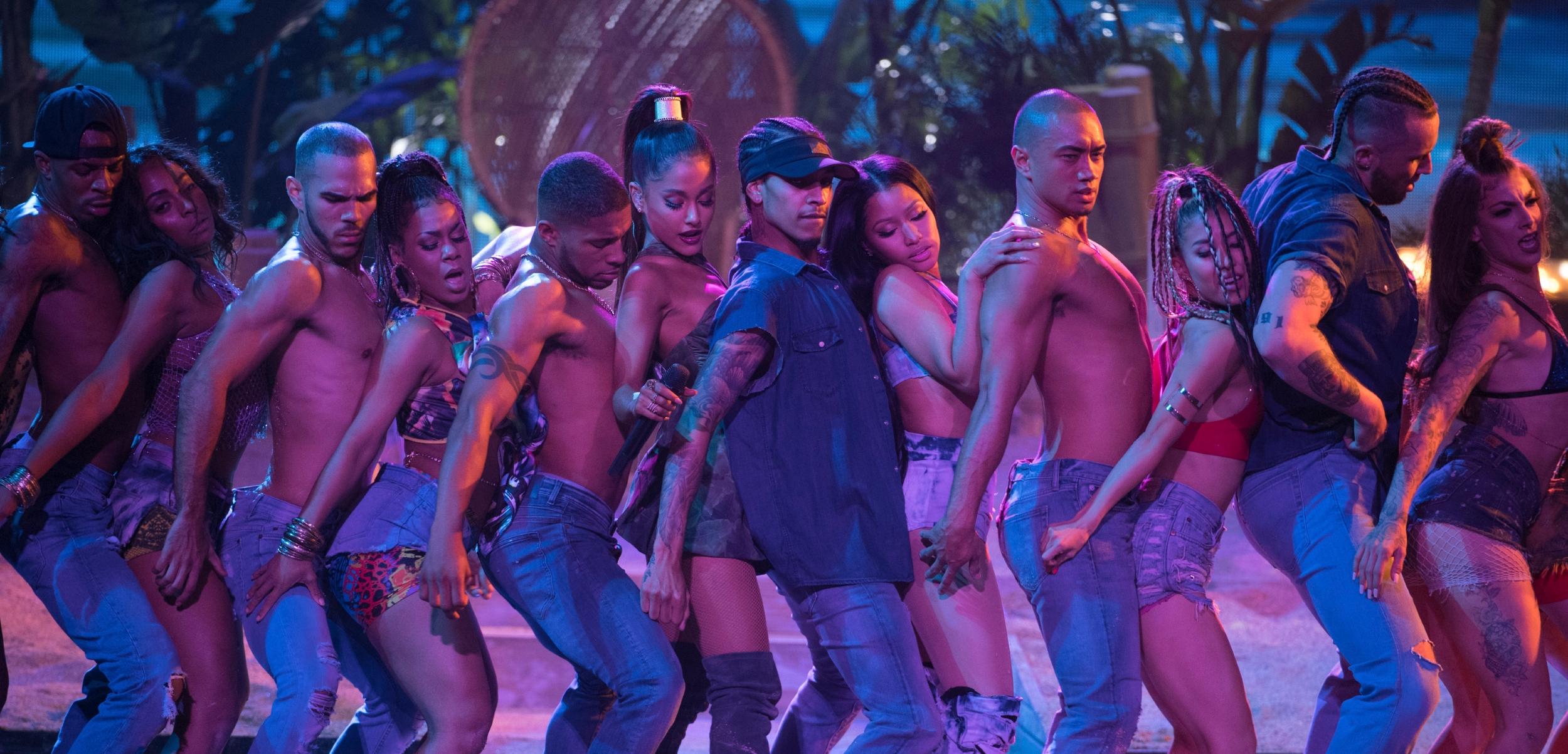 Ariana Grande Nicki Minajs Side To Enjoys Third Week As Pop Radios 1 Song
