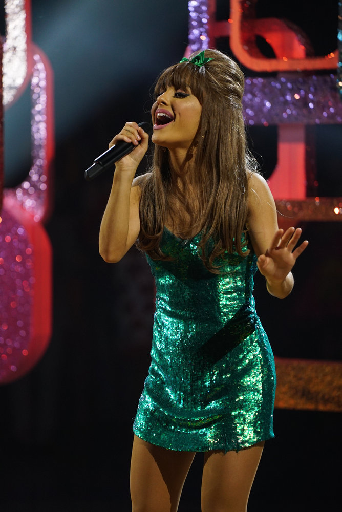 HAIRSPRAY LIVE! -- Pictured: Ariana Grande as Penny Pingleton -- (Photo by: Chris Haston/NBC)