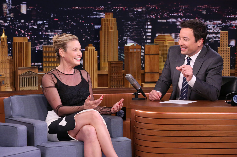 THE TONIGHT SHOW STARRING JIMMY FALLON -- Episode 0583 -- Pictured: (l-r) Comedian Chelsea Handler during an interview with host Jimmy Fallon on December 02, 2016 -- (Photo by: Andrew Lipovsky/NBC)