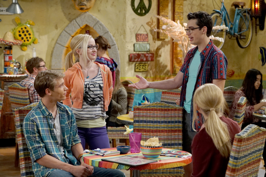 "LIV AND MADDIE: CALI STYLE - ""Ex-A-Rooney"" - When Maddie and Josh start hanging out again, Joey feels awkward by their rekindled friendship. Meanwhile, Parker and Val find themselves in a jam when competing for a coveted finalist spot in the Mars Madness competition. This episode of ""Liv and Maddie: Cali Style"" airs Friday, January 27 (5:30 - 6:00 P.M. EST) in Disney Channel. (Disney Channel/Eric McCandless) LUCAS ADAMS, DOVE CAMERON, JOEY BRAGG"