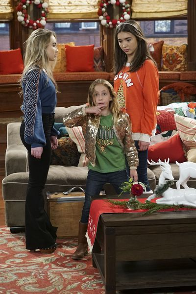 "GIRL MEETS WORLD – ""Girl Meets A Christmas Maya"" – It's the holidays and Riley is excited to celebrate her favorite time of the year, but for Maya, the holidays only bring back unhappy memories from her childhood. This episode of ""Girl Meets World"" airs Friday, December 02 (8:30 – 9:00 P.M. EST) on Disney Channel. (Disney Channel/Ron Tom) SABRINA CARPENTER, AVA KOLKER, ROWAN BLANCHARD"