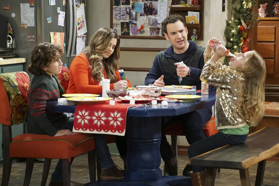"GIRL MEETS WORLD - ""Girl Meets A Christmas Maya"" - It's the holidays and Riley is excited to celebrate her favorite time of the year, but for Maya, the holidays only bring back unhappy memories from her childhood. This episode of ""Girl Meets World"" airs Friday, December 02 (8:30 - 9:00 P.M. EST) on Disney Channel. (Disney Channel/Ron Tom) AUGUST MATURO, DANIELLE FISHEL, BEN SAVAGE, AVA KOLKER"