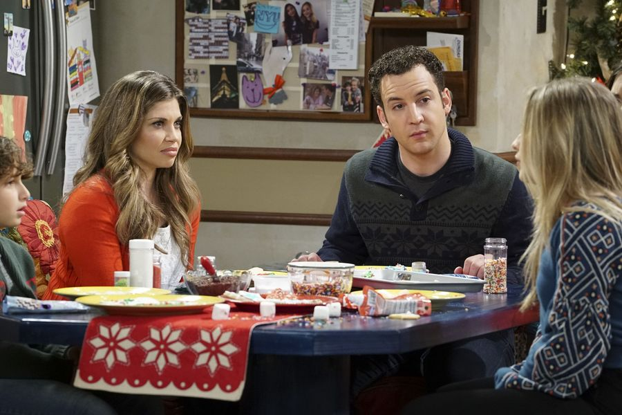 "GIRL MEETS WORLD – ""Girl Meets A Christmas Maya"" – It's the holidays and Riley is excited to celebrate her favorite time of the year, but for Maya, the holidays only bring back unhappy memories from her childhood. This episode of ""Girl Meets World"" airs Friday, December 02 (8:30 – 9:00 P.M. EST) on Disney Channel. (Disney Channel/Ron Tom) AUGUST MATURO, DANIELLE FISHEL, BEN SAVAGE, SABRINA CARPENTER"