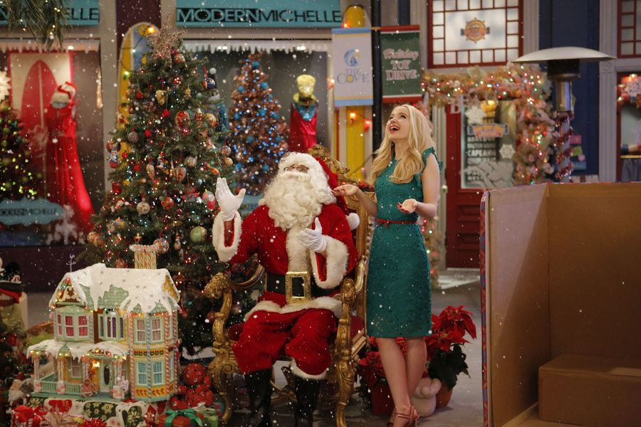 "LIV AND MADDIE – ""Cali Christmas-A-Rooney"" – Maddie is upset that she can't be in Wisconsin for Christmas and to cheer her up, Liv plans an incredible surprise. Meanwhile, Joey participates in a Mr. North Pole Santa Claus pageant against an old foe and Parker tries to teach Ruby the wonders of a Snow Day. This episode of ""Liv and Maddie: Cali Style"" airs Friday, December 02 (8:00 – 8:30 P.M. EST) on Disney Channel. (Disney Channel/Tony Rivetti) JOEY BRAGG, DOVE CAMERON"
