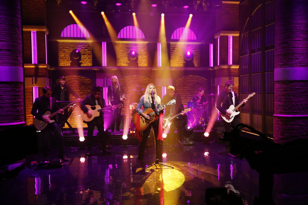 LATE NIGHT WITH SETH MEYERS -- Episode 457 -- Pictured: Musical guest Miranda Lambert performs on December 6, 2016 -- (Photo by: Lloyd Bishop/NBC)
