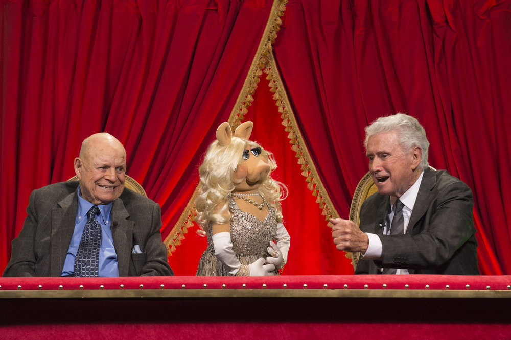 TONY BENNETT CELEBRATES 90: THE BEST IS YET TO COME -- Pictured: (l-r) Don Rickles, Miss Piggy, Regis Philbin -- (Photo by: Virginia Sherwood/NBC)