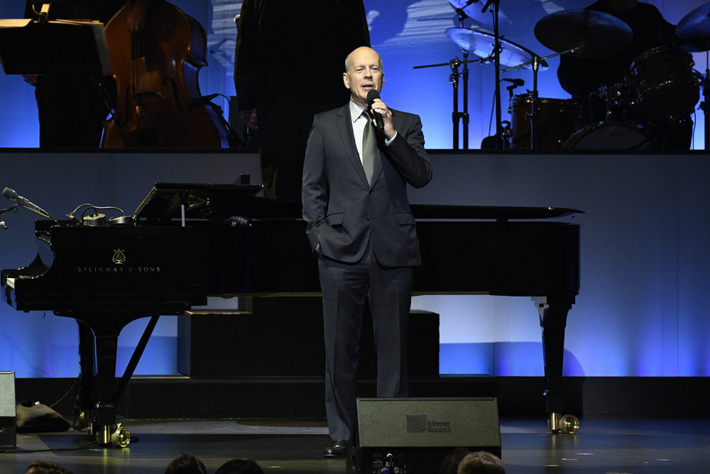 TONY BENNETT CELEBRATES 90: THE BEST IS YET TO COME -- Concert -- Pictured: Bruce Willis -- (Photo by: Peter Kramer/NBC)