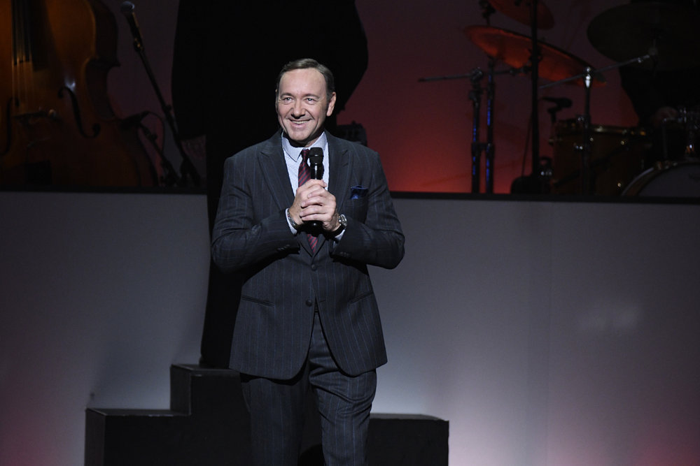 TONY BENNETT CELEBRATES 90: THE BEST IS YET TO COME -- Concert -- Pictured: Kevin Spacey -- (Photo by: Peter Kramer/NBC)