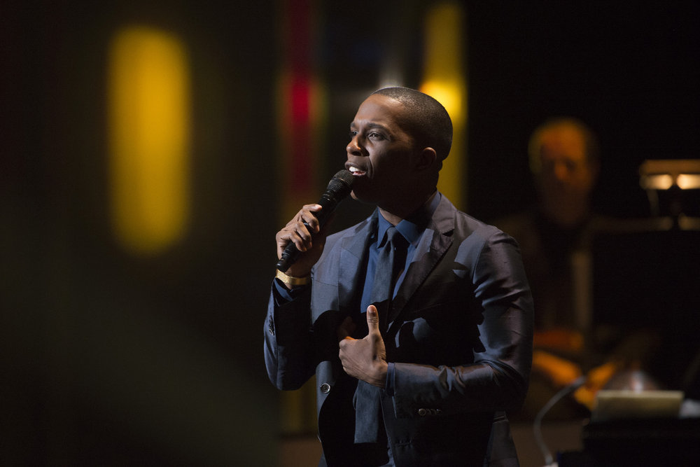 TONY BENNETT CELEBRATES 90: THE BEST IS YET TO COME -- Concert -- Pictured: Leslie Odom Jr. -- (Photo by: Virginia Sherwood/NBC)
