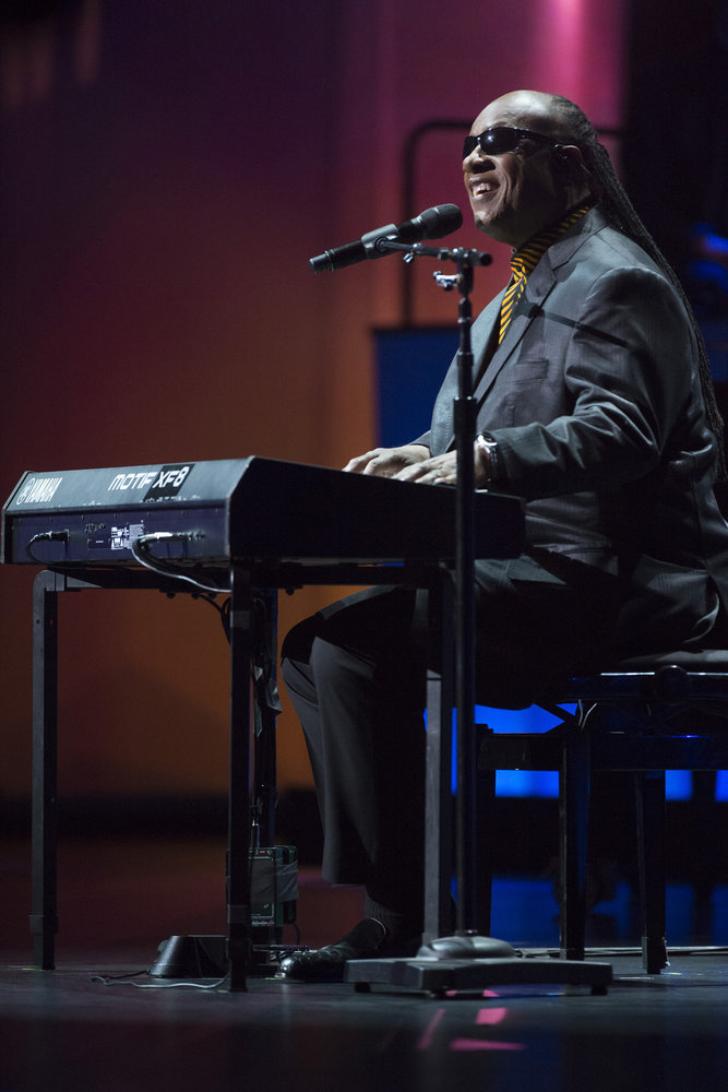 TONY BENNETT CELEBRATES 90: THE BEST IS YET TO COME -- Concert -- Pictured: Stevie Wonder -- (Photo by: Virginia Sherwood/NBC)