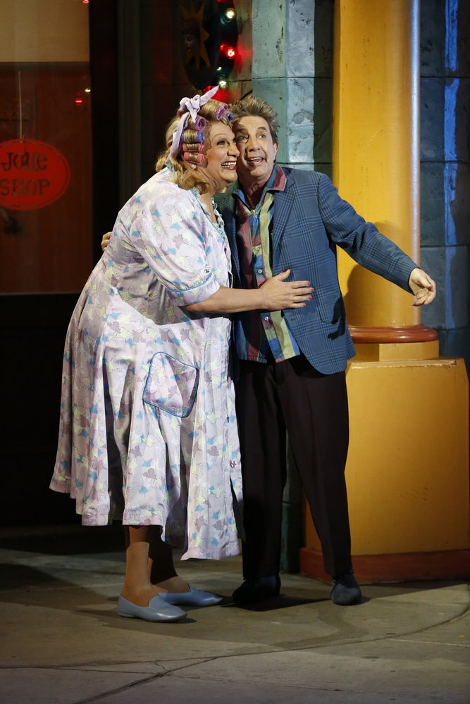 HAIRSPRAY LIVE! -- Pictured: (l-r) Harvey Fierstein as Edna Turnblad, Martin Short as Wilbur Turnblad -- (Photo by: Justin Lubin/NBC)