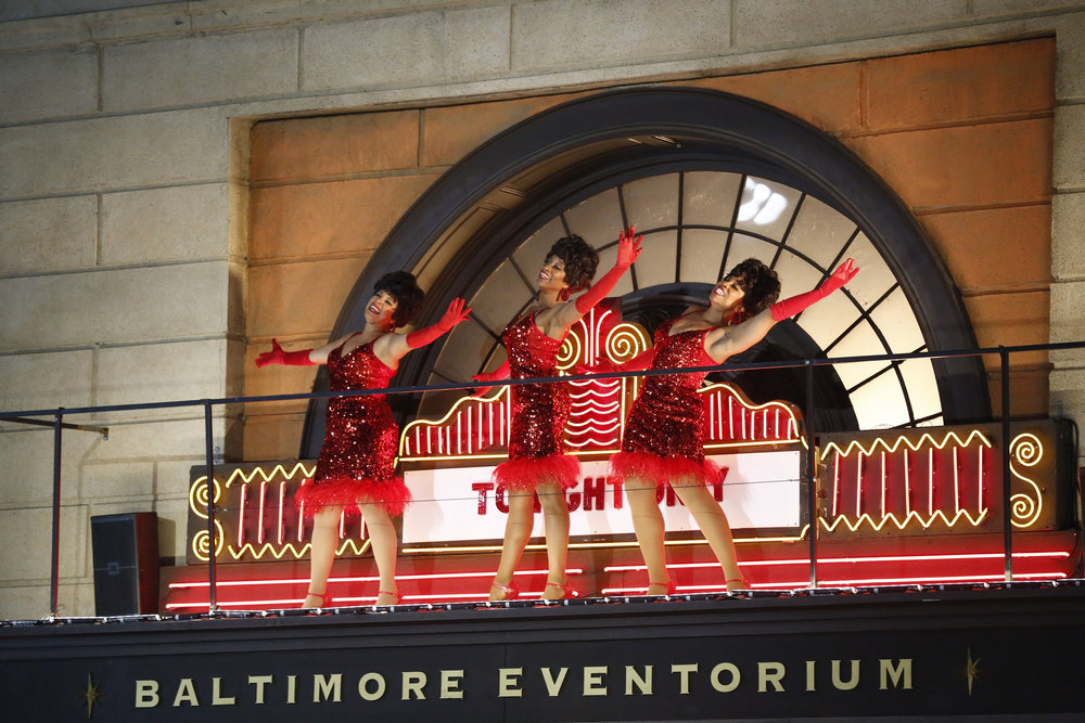 HAIRSPRAY LIVE! -- Pictured: Dynamites (l-r) Shayna Steele, Judine Somerville, Kamilah Marshall -- (Photo by: Justin Lubin/NBC)