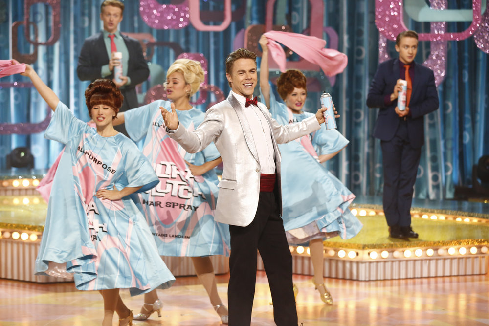 HAIRSPRAY LIVE! -- Pictured: Derek Hough as Corny Collins -- (Photo by: Justin Lubin/NBC)