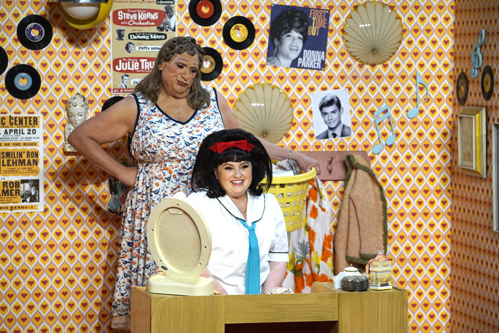 HAIRSPRAY LIVE! -- Pictured: (l-r) Harvey Fierstein as Edna Turnblad, Maddie Baillio as Tracy Turnblad -- (Photo by: Paul Drinkwater/NBC)