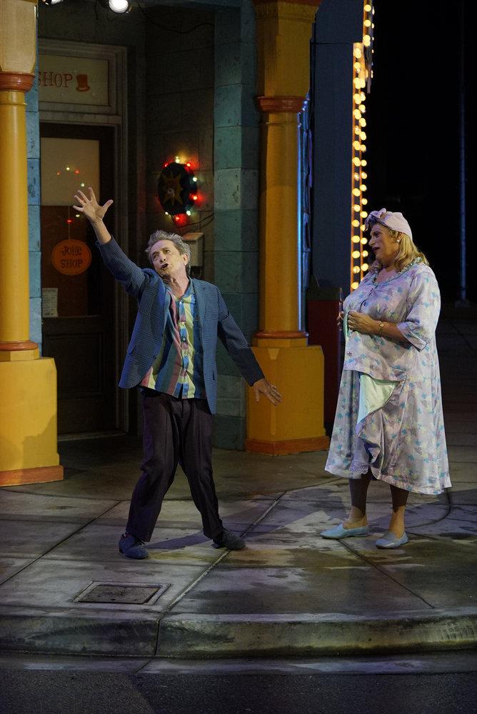 HAIRSPRAY LIVE! -- Pictured: (l-r) Martin Short as Wilbur Turnblad, Harvey Fierstein as Edna Turnblad -- (Photo by: Paul Drinkwater/NBC)