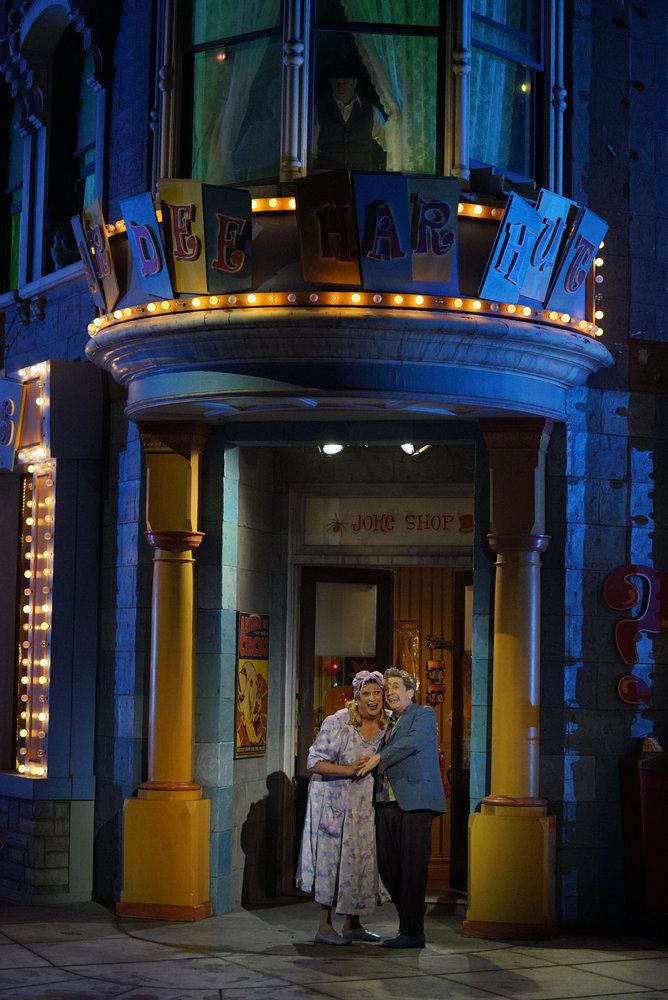 HAIRSPRAY LIVE! -- Pictured: (l-r) Harvey Fierstein as Edna Turnblad, Martin Short as Wilbur Turnblad -- (Photo by: Paul Drinkwater/NBC)