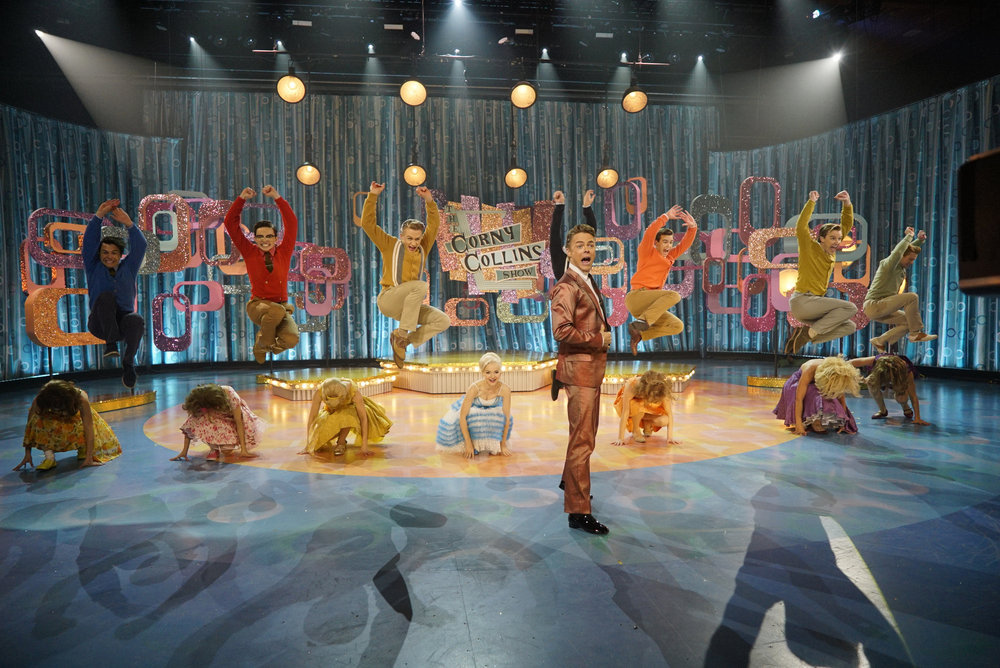 HAIRSPRAY LIVE! -- Pictured: Derek Hough as Corny Collins -- (Photo by: Paul Drinkwater/NBC)