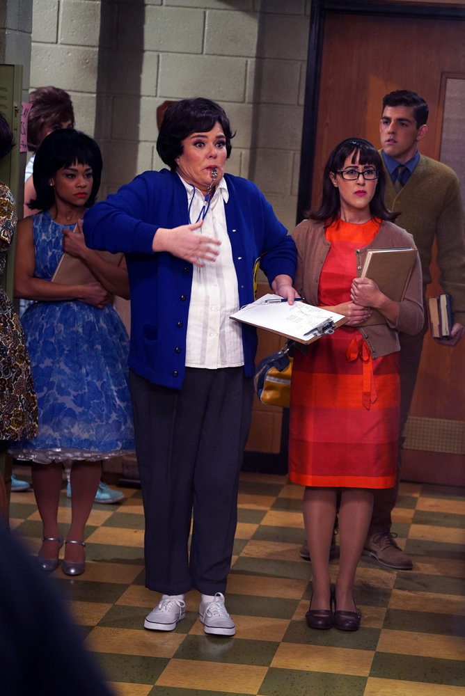 HAIRSPRAY LIVE!  -- Pictured: Rosie O'Donnell as Health Ed Teacher -- (Photo by: Chris Haston/NBC)