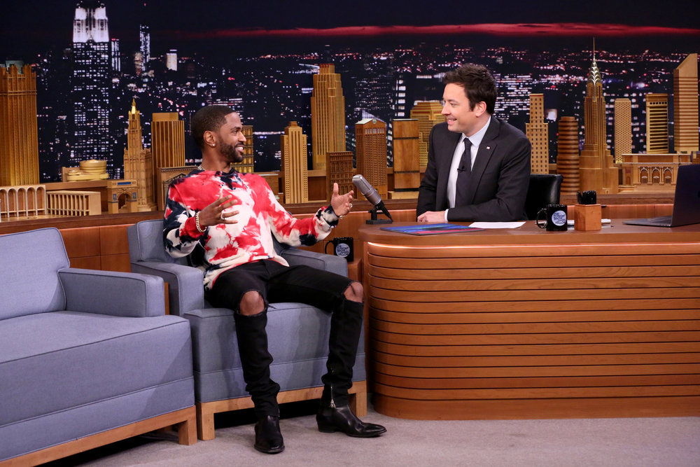 THE TONIGHT SHOW STARRING JIMMY FALLON -- Episode 0607 -- Pictured: (l-r) Rapper Big Sean during an interview with host Jimmy Fallon on January 20, 2017 -- (Photo by: Andrew Lipovsky/NBC)