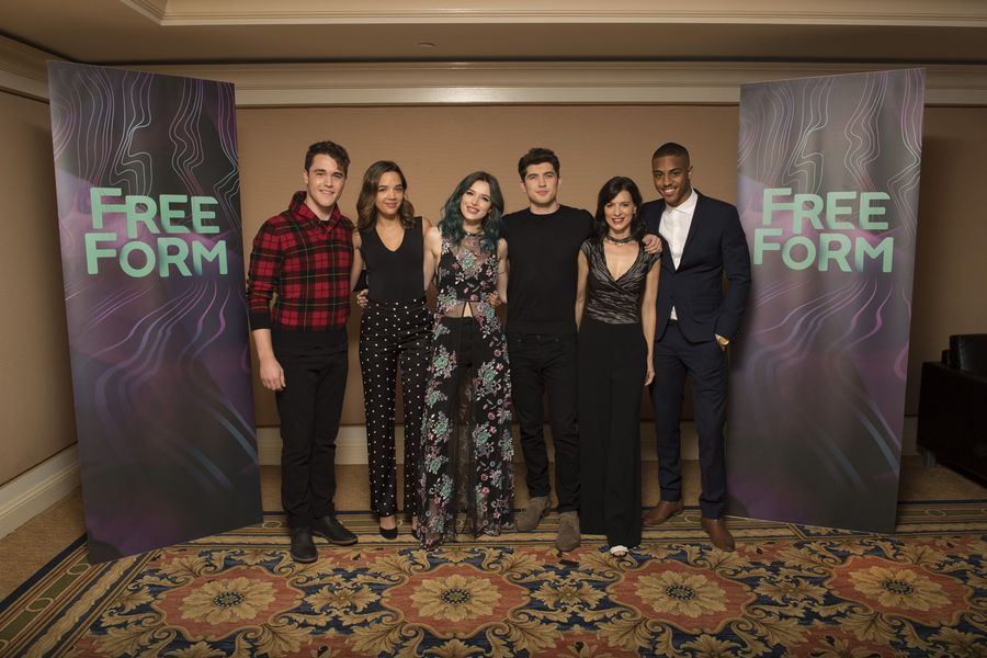 """TCA WINTER PRESS TOUR 2017 – """"Famous in Love"""" Session – The cast and executive producers of """"Famous in Love"""" addressed the press at Disney 