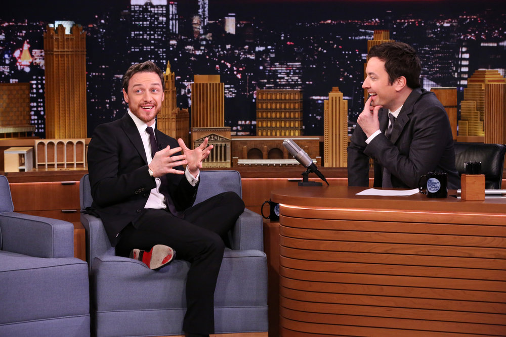 THE TONIGHT SHOW STARRING JIMMY FALLON -- Episode 0605 -- Pictured: (l-r) Actor James McAvoy during an interview with host Jimmy Fallon on January 18, 2017 -- (Photo by: Andrew Lipovsky/NBC)