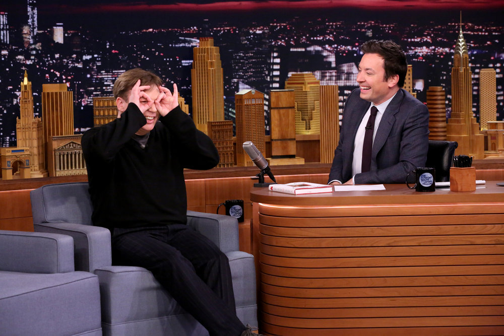 THE TONIGHT SHOW STARRING JIMMY FALLON -- Episode 0609 -- Pictured: (l-r) Comedian Mike Myers during an interview with host Jimmy Fallon on January 24, 2017 -- (Photo by: Andrew Lipovsky/NBC)
