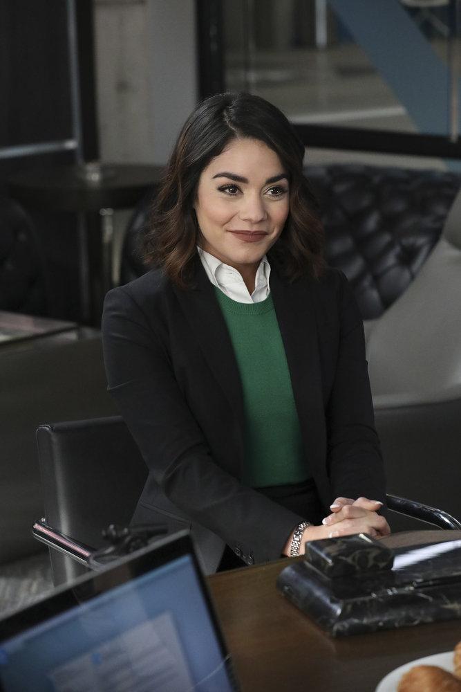"POWERLESS -- ""Wayne or Lose"" Episode 102 -- Pictured: Vanessa Hudgens as Emily -- (Photo by: Evans Vestal Ward/NBC)"