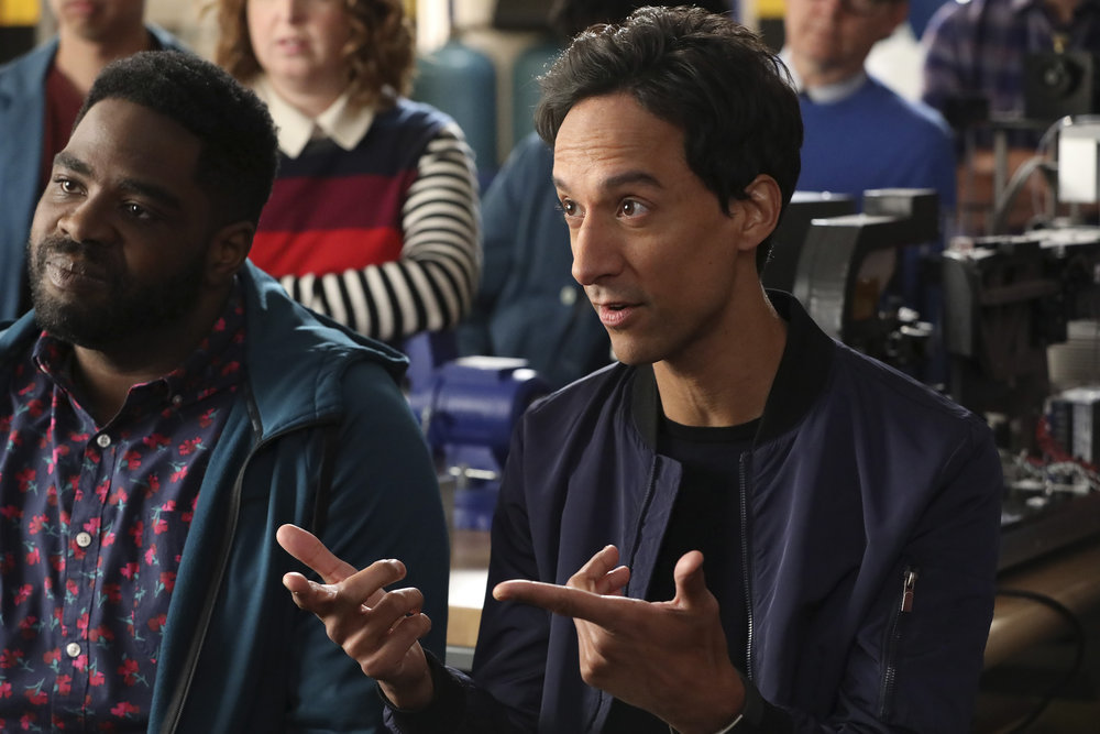 """POWERLESS -- """"Wayne or Lose"""" Episode 102 -- Pictured: (l-r) Ron Funches as Ron, Danny Pudi as Teddy -- (Photo by: Evans Vestal Ward/NBC)"""